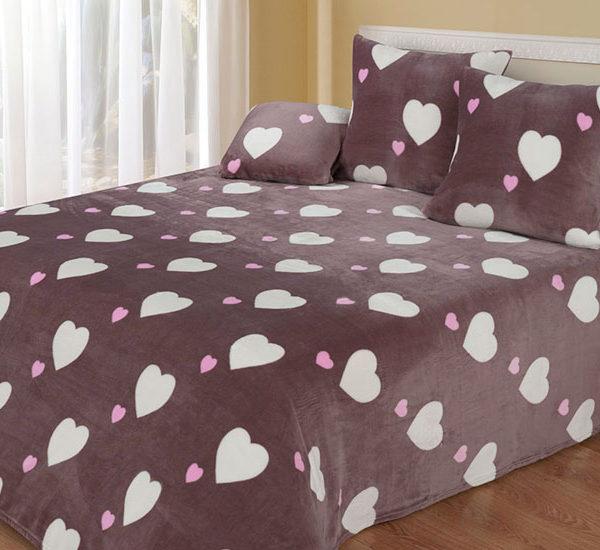 Плед велсофт Cotton Dreams (Love) купить CottonNew.ru