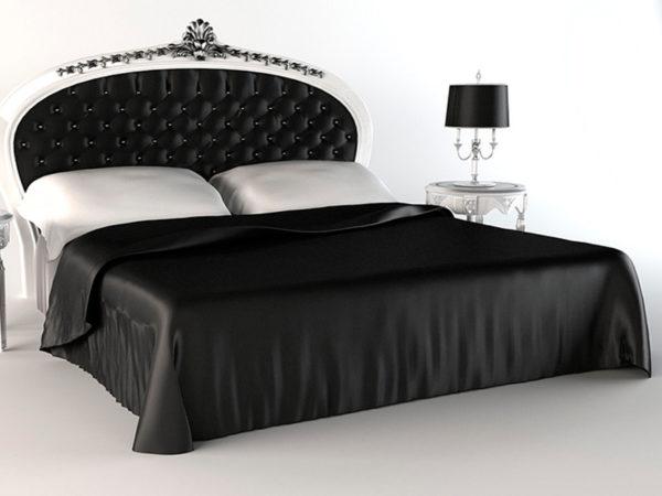 Шелковое постельное белье Luxe Dream Black and White шелк 100%