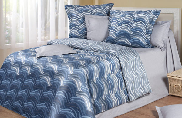 Постельное белье сатин Just Blue (Синий) COTTON DREAMS Premiata