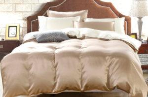 Шелковое постельное белье Luxe Dream Elite Шоколадно-молочный шелк 100%