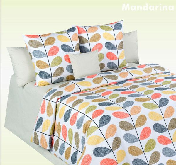 Постельное белье перкаль Cotton Dreams Mandarina (Мандарина) Valencia