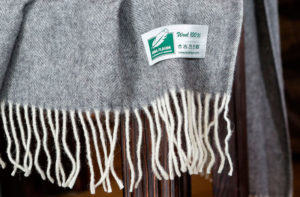 Шерстяной плед Anna Flaum CHRIS 140/200 (серый) купить
