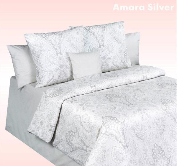 Постельное белье перкаль Cotton Dreams Amara Silver (Амара Сильвер)