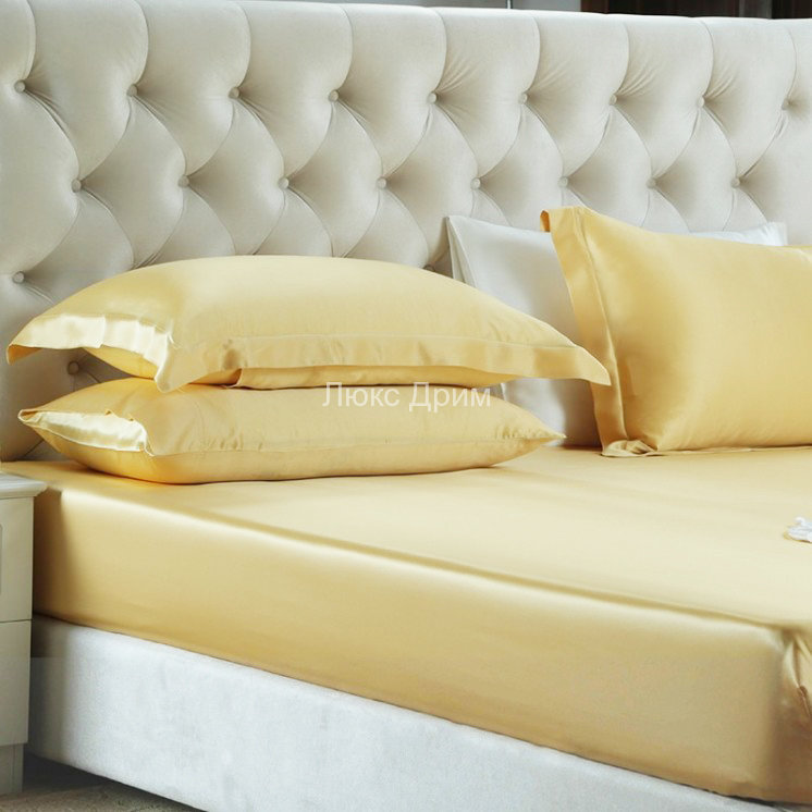 974b75a8785e Шелковая простыня на резинке Luxe Dream 180/200 (Золотой)