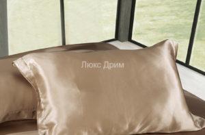 Шелковая наволочка Luxe Dream Бежевый 2 шт. шелк 100%