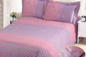 Покрывало на кровать СG-26 (с наволочками) однотонное стеганое