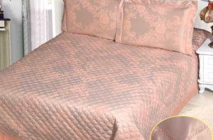 Покрывало на кровать СG-28 (с наволочками) однотонное стеганое