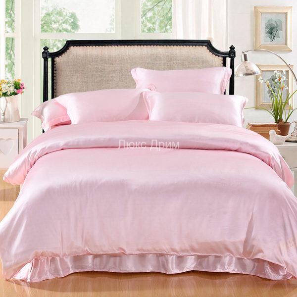 Шелковое постельное белье Luxe Dream Светло-розовый шелк 100%