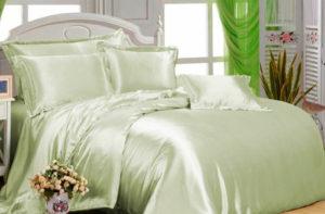 Шелковое постельное белье Luxe Dream Светло-зеленый шелк 100%
