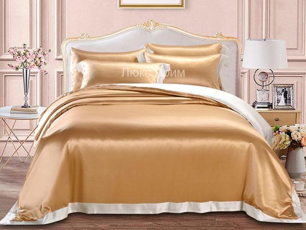 Шелковое постельное белье Luxe Dream Плаза Браун шелк 100%