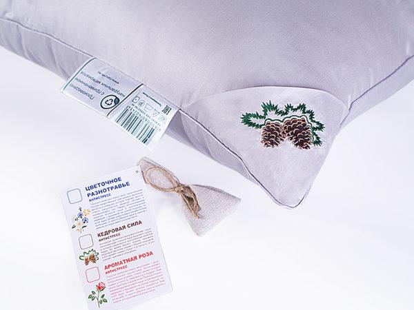 Подушка бамбук Nature`s «Кедровая Сила» упругая