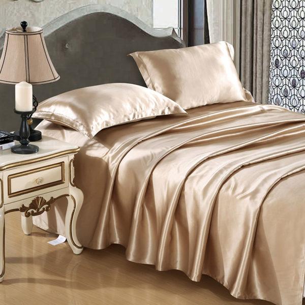Шелковое постельное белье Luxe Dream Бежевый шелк 100%