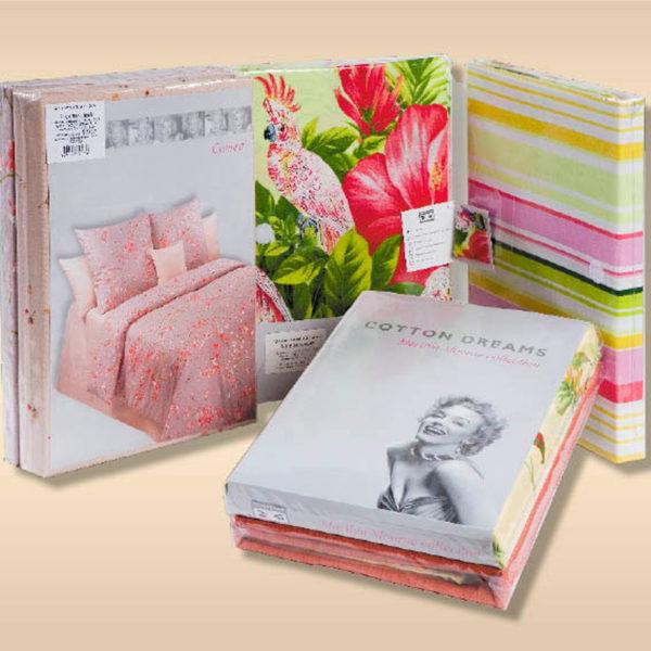 Образец упаковки комплектов постельного белья Marilyn Monroe (Мерлин Монро) Cotton Dreams