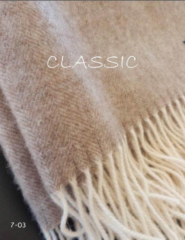 Плед CLASSIC 7-03 (шерсть мериноса 100%) 140/200 CottonNew.ru