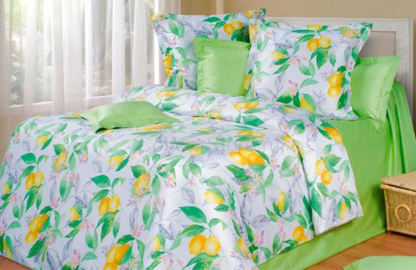 Постельное белье сатин Philosophy (Философия) Lemon & Flowers