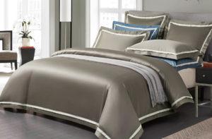 Постельное белье сатин Sharmes «Amour» (Серый)