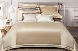 Постельное белье сатин Sharmes «Amour» (Белое золото)
