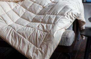 Одеяло шерстяное ALMOND CAMEL GRASS