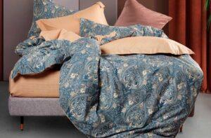 Постельное белье сатин Asabella 1410 (простыня на резинке)