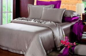 Шелковое постельное белье Luxe Dream Элеганс Серебро