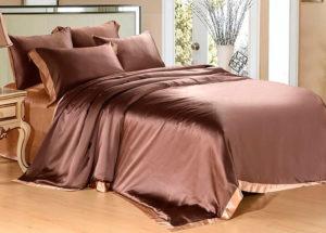 Шелковое постельное белье Luxe Dream Elite шоколад шелк 100%