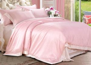 Шелковое постельное белье Luxe Dream Плаза Розовый