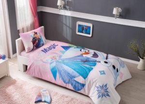 Детское постельное белье TAC FROZEN PINK хлопок 100%