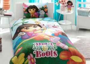 Детское постельное белье TAC DORA AND BOOTS хлопок 100%