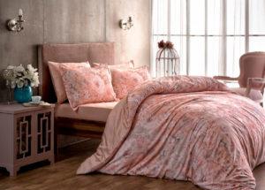 Постельное белье сатин TAC (Тач) BLANCHE розовый SATEN DELUX