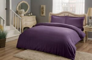 Постельное белье сатин TAC (Тач) BASIC фиолетовый SATEN