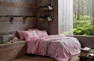 Постельное белье TAC (Тач) ранфорс FLEUR розовый