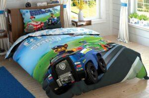 Детское постельное белье TAC Disney PETROL TEAM ранфорс