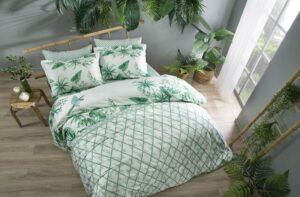 Постельное белье сатин TAC (Тач) PATRIOT зеленый SATEN DELUX