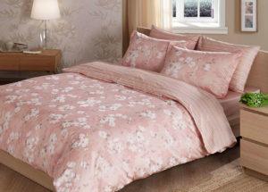 Постельное белье сатин TAC (Тач) SHADOW розовый SATEN DELUX