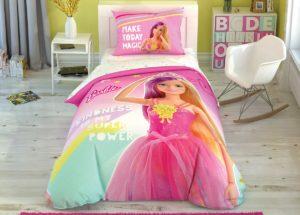 Детское постельное белье TAC Disney BARBIE KINDNES ранфорс