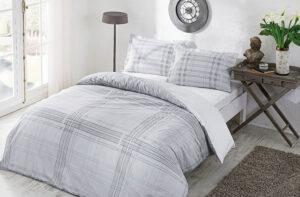 Постельное белье сатин TAC (Тач) Ventura серый SATEN