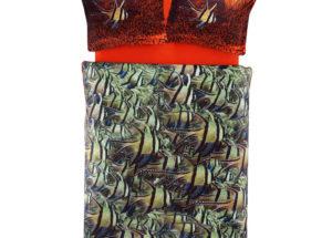 Постельное белье сатин 3D TAC (Тач) COBALT зеленый SATEN DELUX