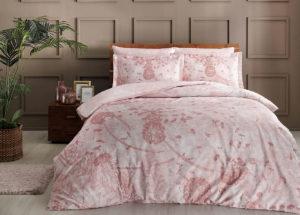 Постельное белье сатин TAC (Тач) RUBEN розовый SATEN DELUX