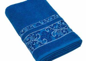 Полотенце BRIELLE SARMASIK темно-синее (50x90, 70x140) купить!