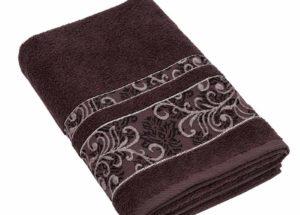 Полотенце BRIELLE SARMASIK коричневое (50x90, 70x140) купить!